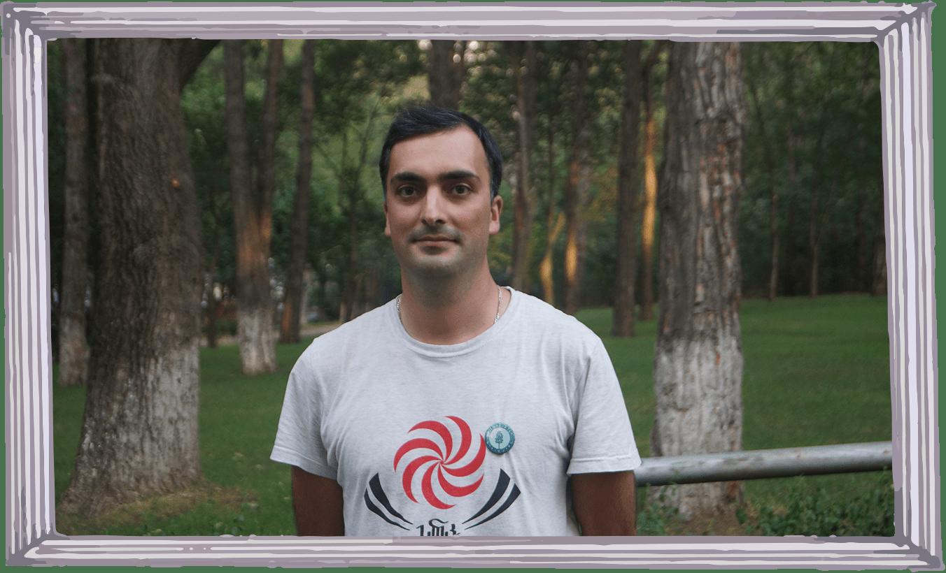 Shalva Chugunadze is living in Tbilisi, Georgia and is a volunteer in the Guerrilla Gardening movement.