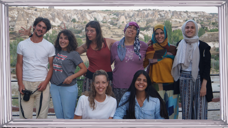The Little Prince Academy Crew f.l. to r.: David (Romania), Ezra (Project Coordinator, Turkey), Mai (France), Fatma (Turkey), Ipek(Turkey), Eda (Turkey), Alex (GB), Eilin (Columbia).